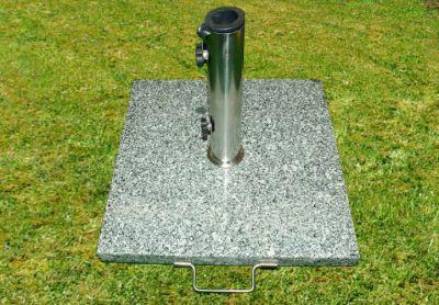 Podstawa z granitu i stali nierdzewnej z kółeczkami pod parasol 25kg