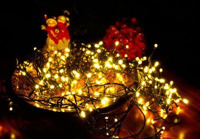 Lampki świąteczne na łańcuchu 200szt led - Lampki ciepłe białe - 18m