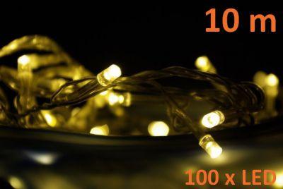 Garth świąteczny LED łańcuch - 10 m, 100 diod, ciepła biel