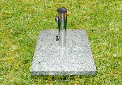 Podstawa z granitu i stali nierdzewnej z kółeczkami pod parasol 40kg