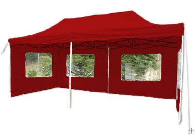 Pawilon ogrodowy rozkładany - czerwony 3 x 6 m