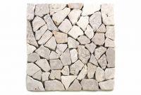 Mozaika kamienna - Biała mozaika z kamienia