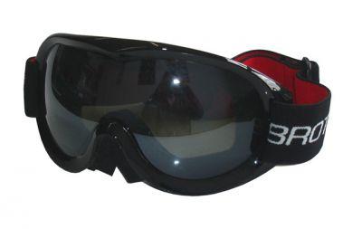 Gogle narciarskie dla dorosłych - podwójne szyby - czarne