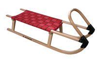 Sanki drewniane 110 cm - czerwone