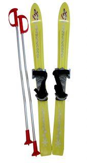 Narty dziecięce Plastkon 90 cm - żółte