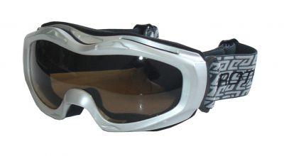 Gogle narciarskie BROTHER - srebrne