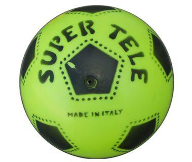 Gumowa piłka z nadrukiem SUPER TELE FLUO