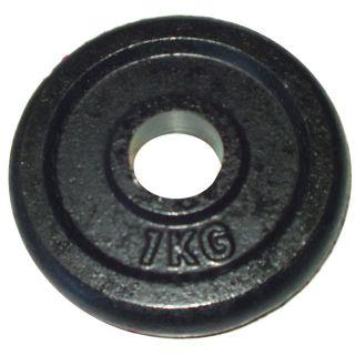Talerz do sztangi 1 kg czarny 30 mm