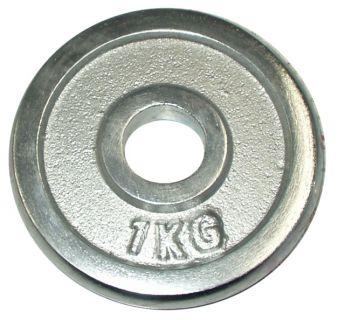 Talerz chromowany do sztangi 1 kg 30 mm