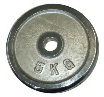 Talerz chromowany do sztangi 5 kg 25 mm
