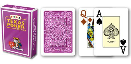 Modiano 2 rogi 100% karty plastikowe - fioletowe