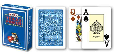 Modiano 2 rogi 100% karty plastikowe - niebieskie