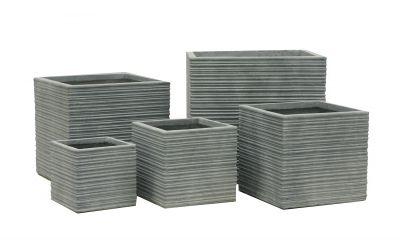 Doniczka G21 Stone Cube 30 x 30 x 28.5 cm