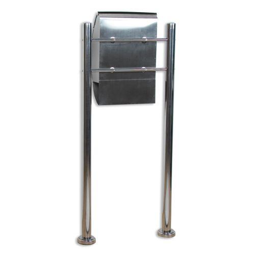 Skrzynka na listy stojąca ze stali nierdzewnej 126 cm