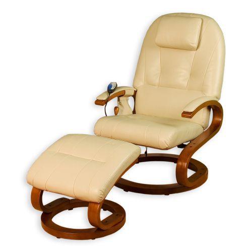 Ekskluzywny fotel z masażem Stilista® kremowy