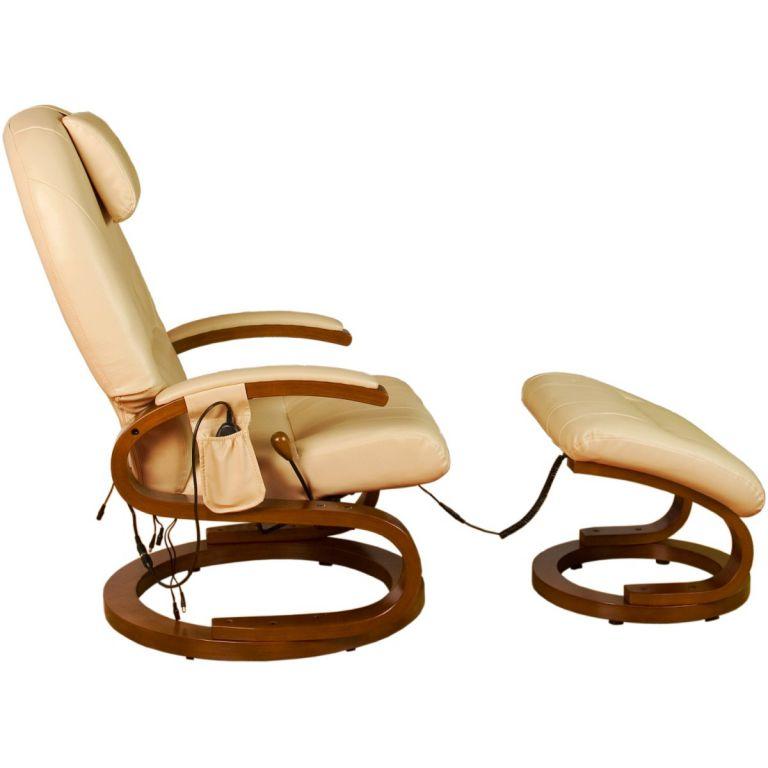 Ekskluzywny fotel z masażem Stilista kremowy