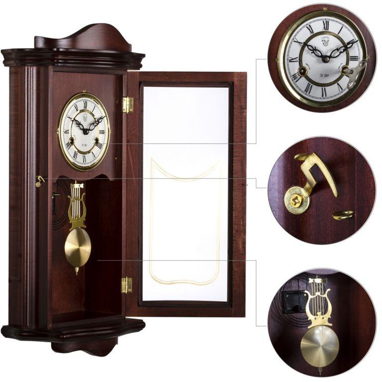 Zegar ścienny wiszący antyczny wahadłowy PROMETHEUS 64 cm