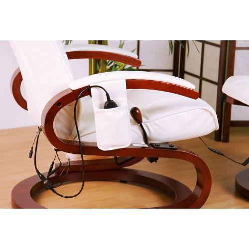 Ekskluzywny fotel z masażem Stilista biały