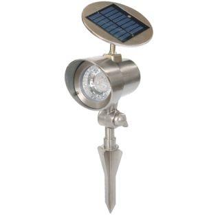 Lampa ogrodowa zasilana energią słoneczną Garth reflektor 15 x 11,5 x 22 cm