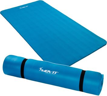 Mata piankowa MOVIT do jogi i gimnastyki 190 x 100 x 1,5 błękitna