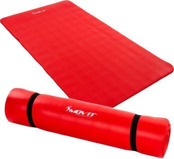 Mata piankowa MOVIT do jogi i gimnastyki 190 x 100 x 1,5 czerwona