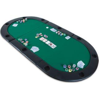 Mata składana do pokera zielona