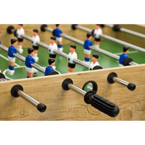 Piłkarzyki stół piłkarski BELFAST 121 x 101 x 79 cm jasne drewo
