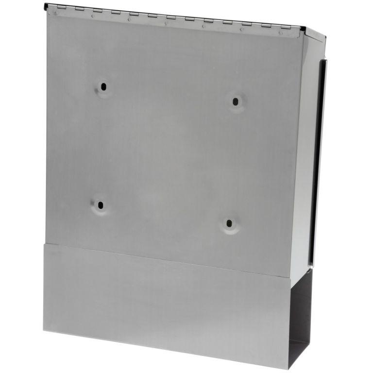 Wisząca skrzynka na listy ze stali nierdzewnej 35 x 44 x 11 cm