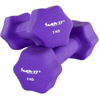 Zestaw 2 x Hantle neoprenowe MOVIT 2 kg