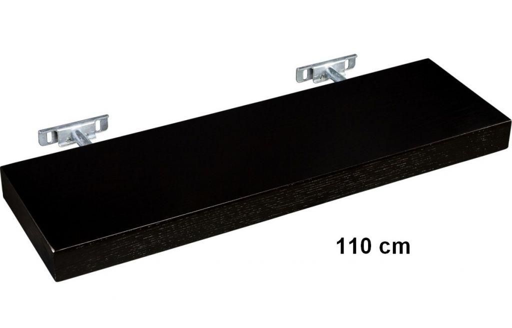 STILISTA półka ścienna Saliento długość 110 cm kolor czarny