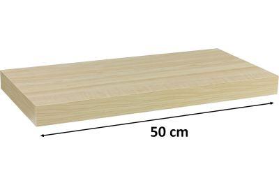 Półka ścienna STILISTA Volato kolor jasnego drewna, 50 cm