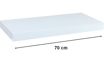 Półka ścienna STILISTA Volato biała wolnowisząca, 70 cm