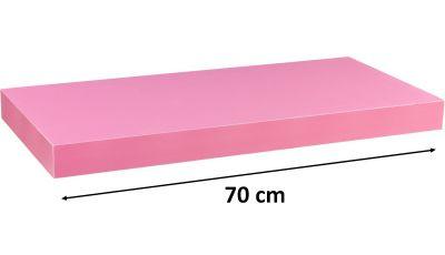Półka ścienna STILISTA Volato wolnowisząca różowa,70 cm