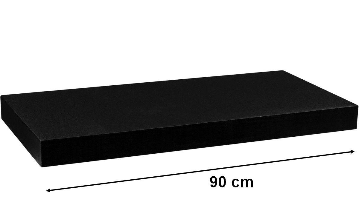 Półka ścienna STILISTA Volato wolnowisząca czarna, 90 cm