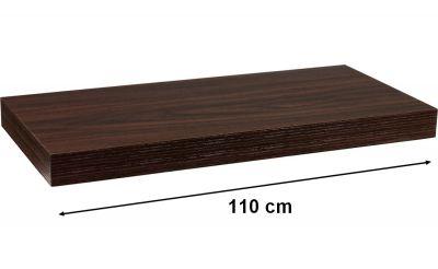 Półka ścienna STILISTA Volato w kolorze ciemnego drewna,110 cm