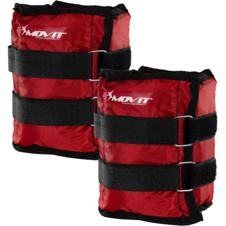 Obciążniki MOVIT na ręce i nogi do ćwiczeń 2 x 2 kg czerwone