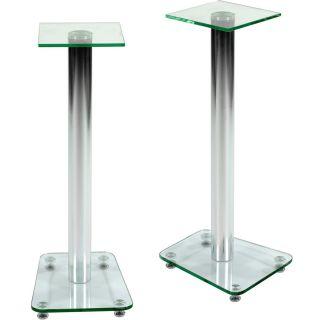 Zestaw dwóch stojaków na głośniki szkło bezbarwne STILISTA
