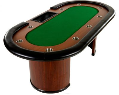 Zielony stół pokerowy XXL ROYAL FLUSH 213 x 106 x 75 cm