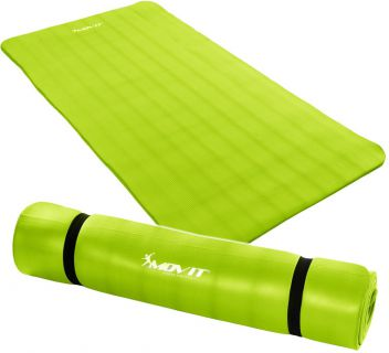 Mata piankowa MOVIT do jogi i gimnastyki 190 x 100 x 1,5 jasnozielona