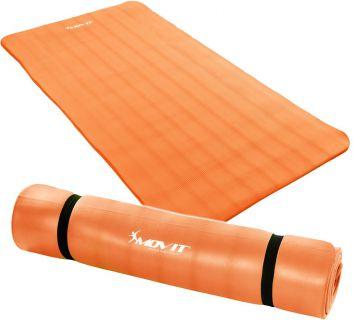 Mata piankowa MOVIT do jogi i gimnastyki 190 x 100 x 1,5 pomarańczowa
