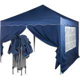 Namiot ogrodowy, party, nożycowy 3x3m +2 ściany - niebieski