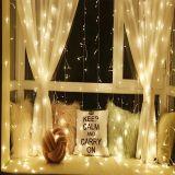 Świąteczne oświetlenie - świecąca kurtyna 3x3 m - ciepłe białe 300 LED