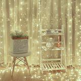 Świąteczne oświetlenie - świecąca kurtyna 3x3 m - zimne białe 300 LED