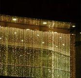 Świąteczne oświetlenie - świecąca kurtyna 3x6 m - ciepłe białe 600 LED