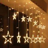 Świąteczne dekoracje - świetlne gwiazdki - 150 LED ciepło-biała