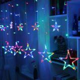 Świąteczne dekoracje - świetlne gwiazdki - 150 LED kolorowe