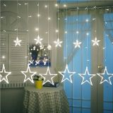 Świąteczne dekoracje - świetlne gwiazdki - 150 LED zimno-biała
