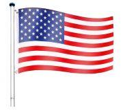 Maszt wraz z Flagą USA - 650 cm
