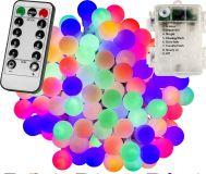Imprezowe oświetlenie - 5 m, 50 LED, kolorowe, na baterie