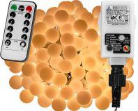 Imprezowe oświetlenie - 10 m, 100 LED, ciepła biel + pilot